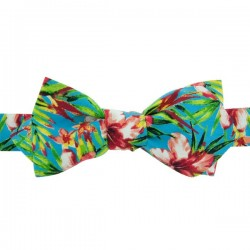 Turquoise pink Vahine Liberty Bow Tie