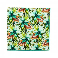 White / mint Vahine Liberty pocket square