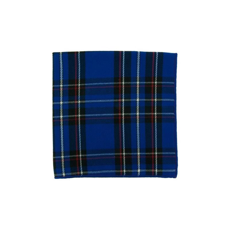 Blue Tartan pocket square
