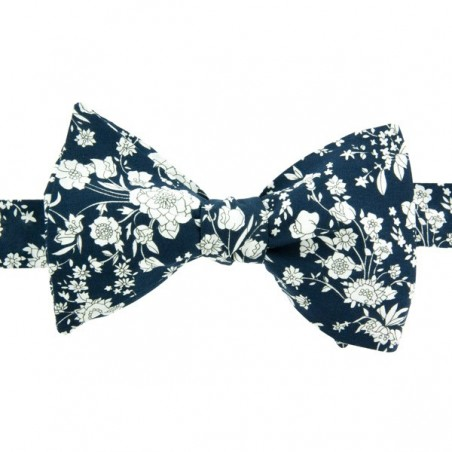 Navy blue Bloom Liberty Bow Tie