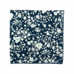 Navy blue Bloom Liberty pocket square