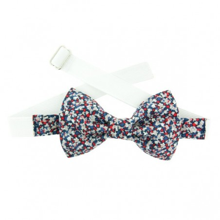 Red/Navy Blue Pepper Liberty Kid Bow Tie