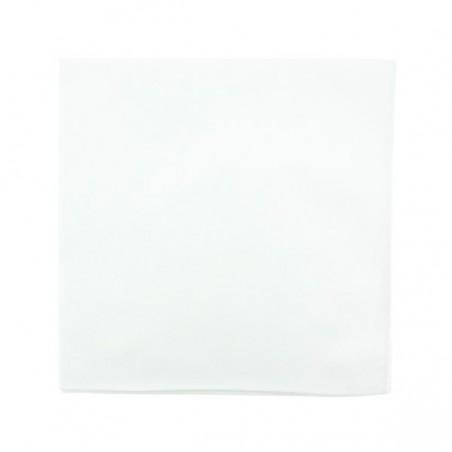 Pochette de costume blanche en coton