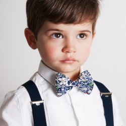 Navy Blue June's Meadow Liberty Kid Bow Tie