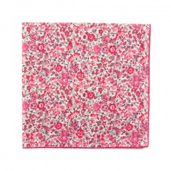 Raspberry Pink Emma Liberty pocket square