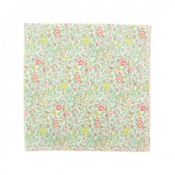 Green Pink Katie & Millie Liberty pocket square