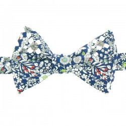 Navy Blue June's Meadow Liberty Bow Tie
