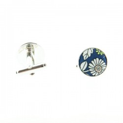 Navy Blue June Meadow Liberty cufflinks