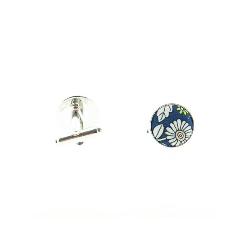 Navy Blue June Meadow Liberty cufflinks
