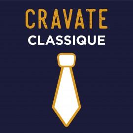 Cravate SUR MESURE - Classique ou Slim
