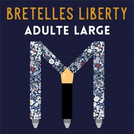 Adulte Large Liberty braces, 35mm, choose your fabric !