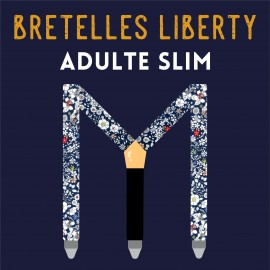 Adult slim Liberty braces, 25mm, choose your fabric !