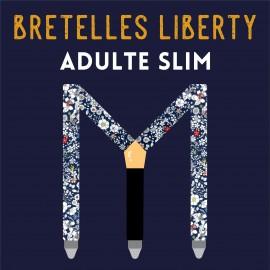 Adult slim Liberty braces, 25mm, choose your fabric !