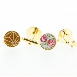 Tailor made cufflinks - GoldFinish