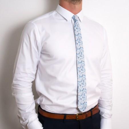 Cravate Liberty Eloise bleu ciel SLIM
