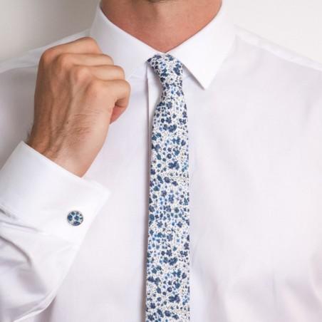 Cravate Liberty Phoebe Bleu Foncé SLIM
