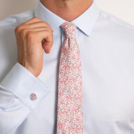 Cravate Eloise rose dragée CLASSIQUE