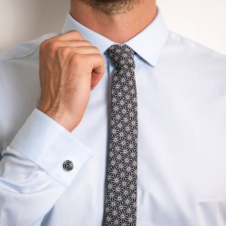 Cravate Japonais Asanoha marine SLIM