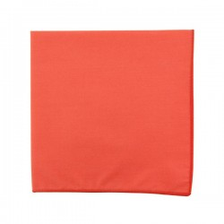 Plain Coral pocket square