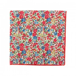 Red Emma Liberty pocket square