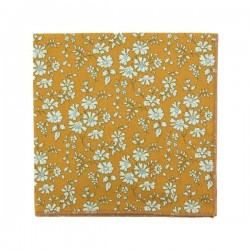 Mustard Capel Liberty pocket square