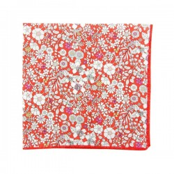 Pochette de costume Liberty June Meadow Vermillon