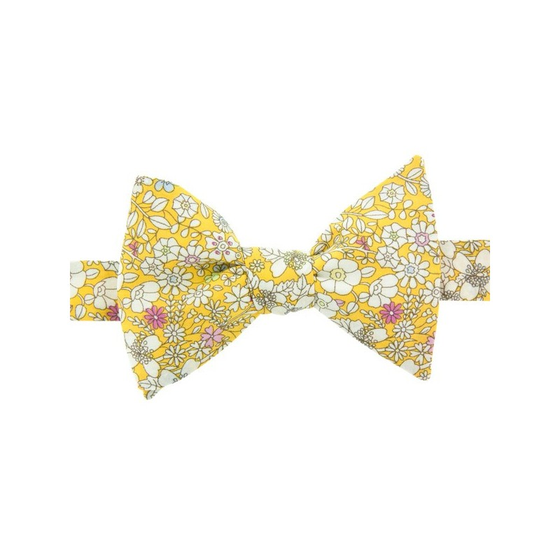 Noeud Papillon Liberty June Meadow Jaune paille