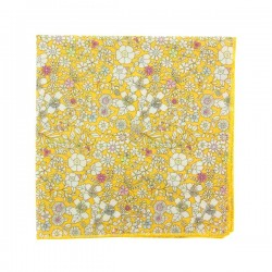 Yellow June Meadow Liberty pocket square