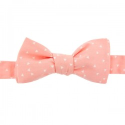 Salmon Pink Triangles Bow Tie