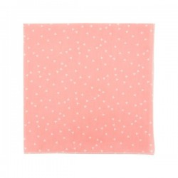 Salmon pink triangles pocket square