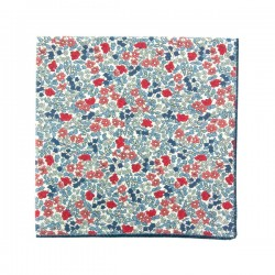 Red / blue Emilia Liberty pocket square