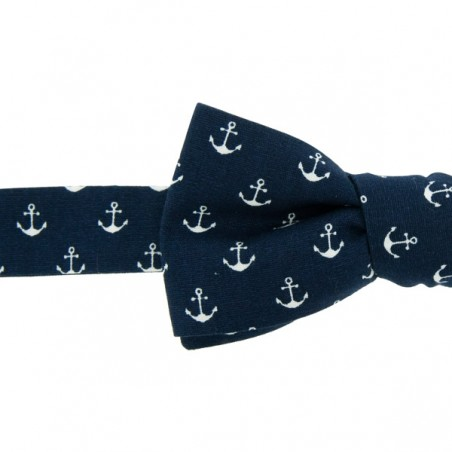 Navy Anchors Bow Tie