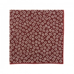 Burgundy Sagano Japanse pocket square