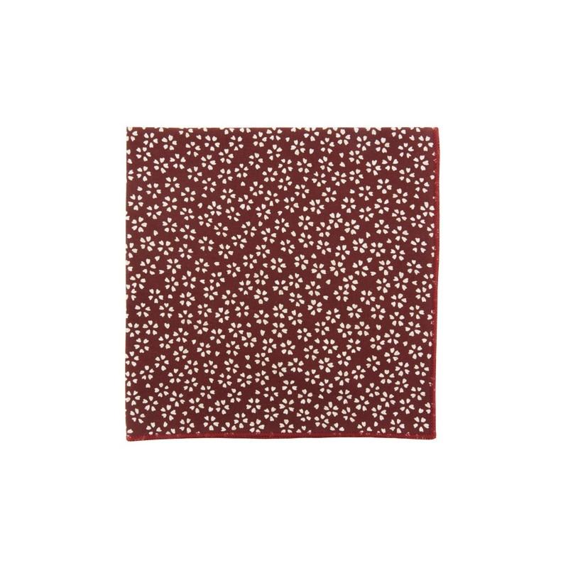 Burgundy Sagano Japanse pocket square