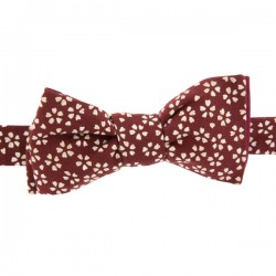 Burgundy Sagano Japanese Bow tie