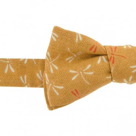 Noeud Papillon Japonais Libellule Moutarde