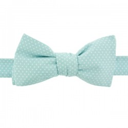 Noeud Papillon Mini Pois Baby Blue