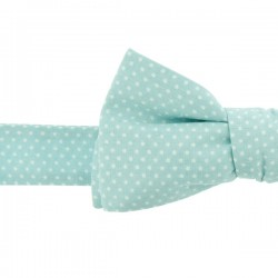 Baby Blue with Pin Dots Bow Tie