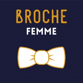 Bow brooch - Choose your fabric !