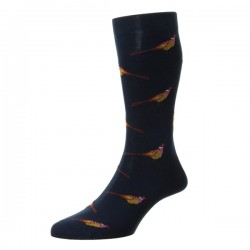 Navy blue chevron Scottish thread Socks