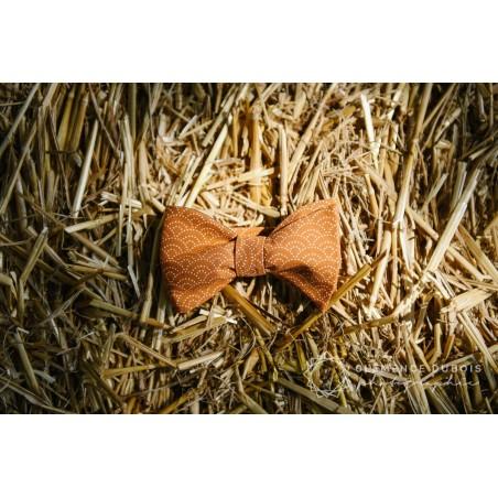 Noeud Papillon Japonais Éventail Ocre
