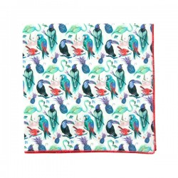 Red Palm tree Liberty pocket square