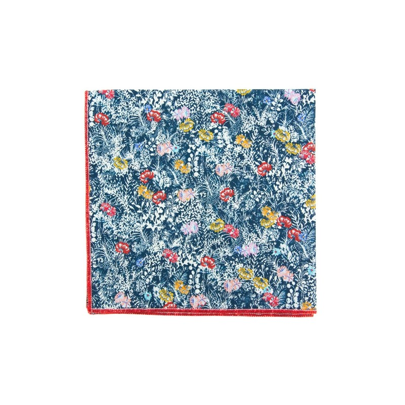 Navy blue Baléaric Liberty pocket square