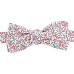 Noeud Papillon Liberty Eloise Rose dragée forme slim
