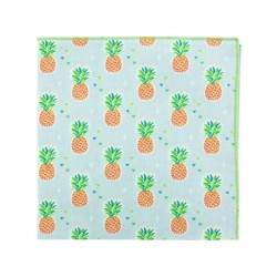 Light blue Ananas pocket square