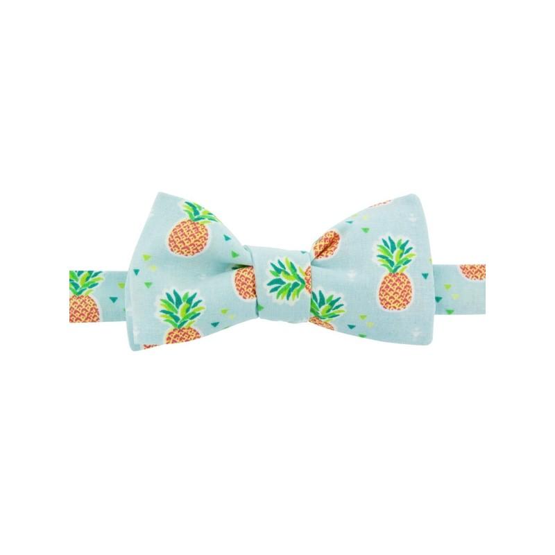 Light Blue Ananas Bow tie