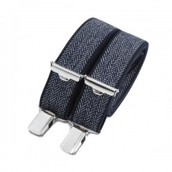 Navy blue Flecked skinny braces 25 MM BERTELLES