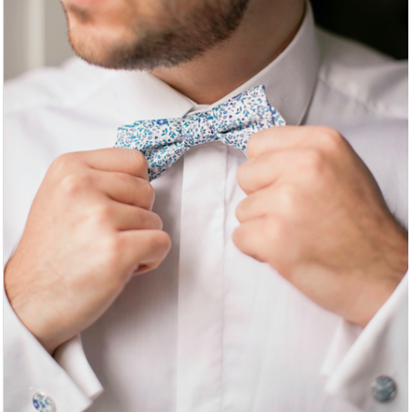 Blue Katie & Millie Liberty bow tie