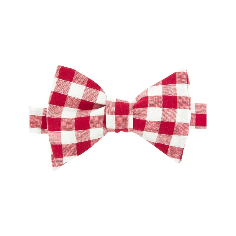 Noeud Papillon Gros Vichy Rouge