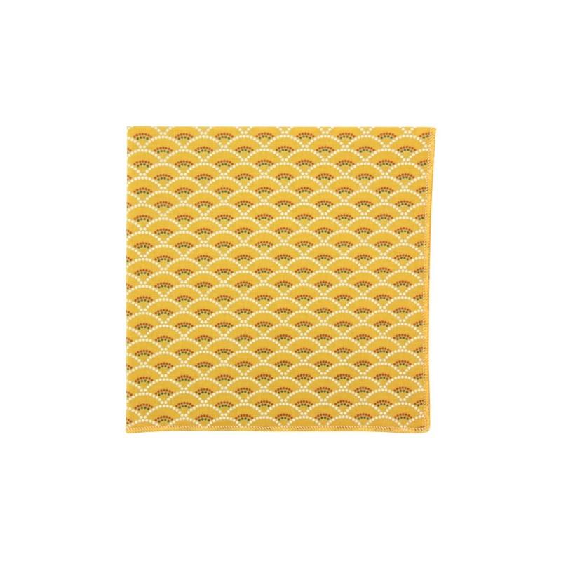 Mustard Shell pocket square
